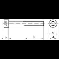 Zylinderschraube mit Innensechskant ISO 4762 8.8 blank Box M5x110-200 St/ück