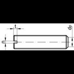 10 Stück M2,5X25 Madenschrauben DIN 551 Edelstahl A1  Gewindestifte mit Schlitz