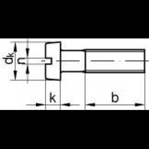 Zylinderschrauben mit Schlitz DIN 84 Stahl blank gedreht