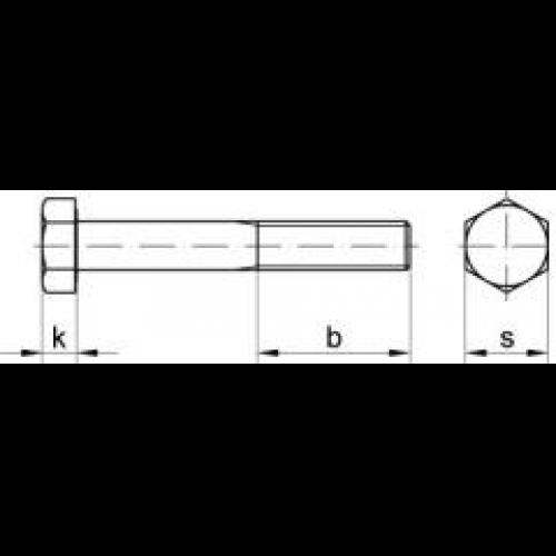 Zylinderschraube mit Innensechskant ISO 4762 8.8 blank M5x110-200 St/ück Box